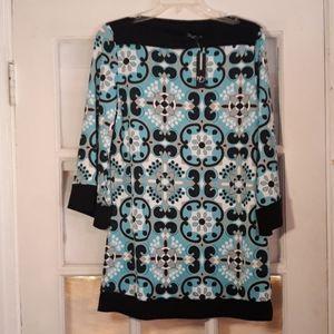 Fun print blouse